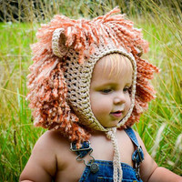Crochet Pattern for Lion and Lioness Baby Bonnet Hat - 5 sizes, newborn to child - Welcome to sell finished items