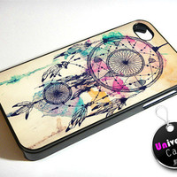 Dreamcatcher Indian Art iPhone 4S Case Hard Plastic