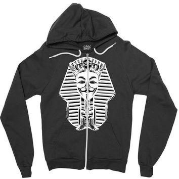 anonymous pharaoh Zipper Hoodie