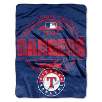 Texas Rangers MLB Micro Raschel Blanket (Structure Series) (46in x 60in)