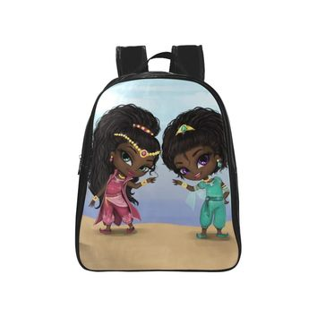Beautiful African American Genies School Preschool Toddler Back To School Backpack