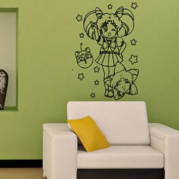 SAILOR MOON KIDS ROOM NURSERY WALL VINYL STICKER  DECALS ART MURAL M71