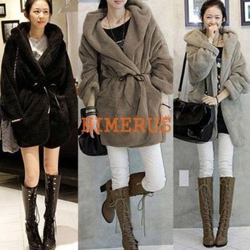 DCCKIX3 Women Fashion Cardigan Hoodies Outerwear Down Jacket Coat Winter Warm = 1932263876