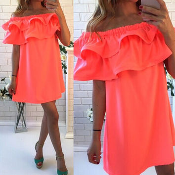 Off Shoulder Summer Mini Dress
