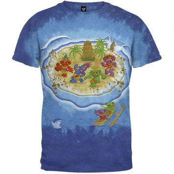 Chenier Grateful Dead - Tiki Bears Tie Dye T-Shirt