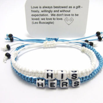 His and Her Bracelets, Girlfriend / Boyfriend Jewelry, Friendship Bracelets, Matching Couple Bracelet Set, Shamballa Bracelets