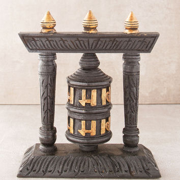 Nepalese Hand Painted Prayer Wheel