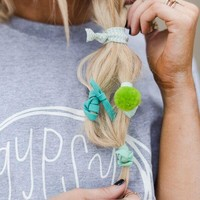 Pom Pom Hair Tie Sets