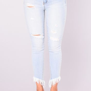 In My DNA Distressed Jeans - Light Blue