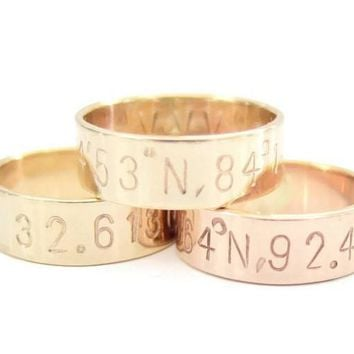 Coordinate Wedding Band Or Anniversary Ring
