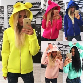 Hoodies Tops Lovely Zippers Hats [156900687898]