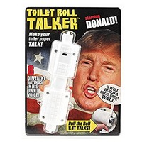 Donald Trump Toilet Roll Talker - Makes Regular Toilet Paper Talk with Trump's REAL VOICE - 8 Hilarious Sayings -Fun Gag Gift for Hillary & Trump Fans - Bathroom Joke Gift - Funny Gift for any Holiday