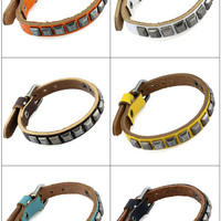 Punk Rock Leather Bracelet Couple Bracelet Women Bracelet Men Leather Bracelet Bracelet Cool Bracelet Mens Bracelet 2574S