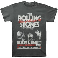 Rolling Stones Men's  Europe 76 T-shirt Grey Rockabilia