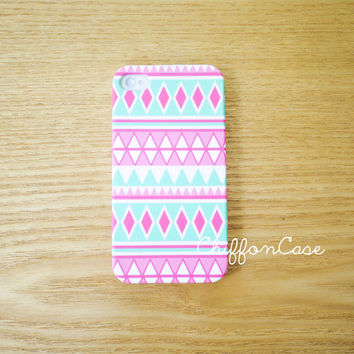 Aztec iPhone 4 Case iPhone 4S Case, Geometric iPhone Case, Unique Apple iPhone4 Case , Tribal Hard Plastic iPhone Cover Cases- Triangle