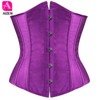 AIZEN plus size sexy corset underbust bodyshaper costumes corsets bustiers ladies burlesque corselet red blue black pink s 6xl