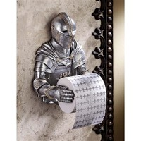 SheilaShrubs.com: A Knight to Remember Gothic Bath Tissue Holder CL5768 by Design Toscano: Wall Sculptures