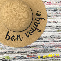 """Bon Voyage"" Floppy Beach Hat"