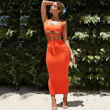 NewAsia Sexy Two Piece Set 2 Piece Set Women Two Piece Outfits Crop Top And Skirt Set Bodycon Matching Sets Summer Clothes 2019