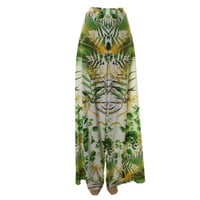 Alice + Olivia Womens Georgette Printed Palazzo Pants