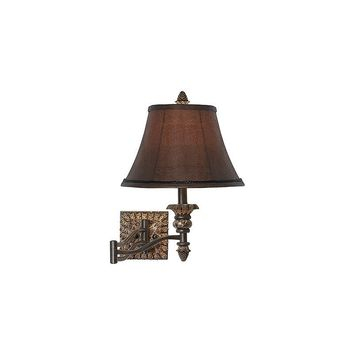 Pacific Coast Lighting Pine Cone Marble Swing Arm Wall Lamp