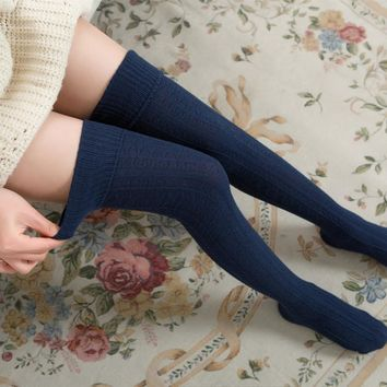 womens leg warmers compression socks women over the knee socks thigh high pantyhose new winter autumn sock ladies knitted boots