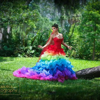 Esperanza Rainbow Bridal Couture Ricky by RickyLindsayCouture
