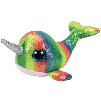 """TY Beanie Boos Nori the Narwhal Small 6"""""""