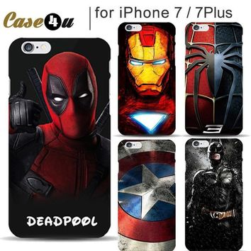 Deadpool Dead pool Taco Marvel Superman Avengers Case for Coque iphone 8 7 Plus iphone7 PC Case Batman Ironman Spiderman Superhero Phone Covers Capinhas AT_70_6