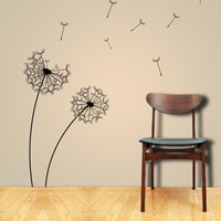 DANDELION in the WIND Self Adhesive Vinyl Wall Art by ParisDecals