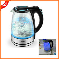 Amazing Blue Led Glass Electric Kettle Automatic Electric Glass Kettle, Kitchen Appliances Chaleira Free Shipping