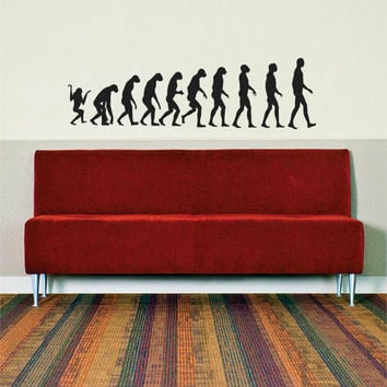 The Evolution of Humans Design Decal Sticker Wall Vinyl Art Home Room Decor