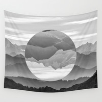 Geo Nature Mountains Wall Tapestry by Openact