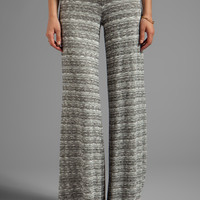 Saint Grace Mica Slub Wide Pant in Fog Stripe from REVOLVEclothing.com