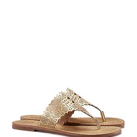Tory Burch Roselle Metallic Thong Sandal