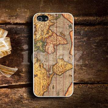 vintage world map Design mobile Phone case