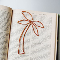 Palm tree bookmark handmade from salvaged copper