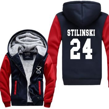 TV Show Teen Wolf Stilinski 24 thicken men sweatshirt 2017 spring winter warm fleece hoodies men brand-clothing men hoody jacket