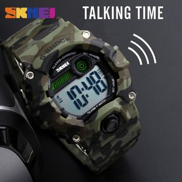 SKMEI 1162 Men Sport Watch Music Alarm Clock LED Digital Watches Voice Timekeeping Watch for Blind