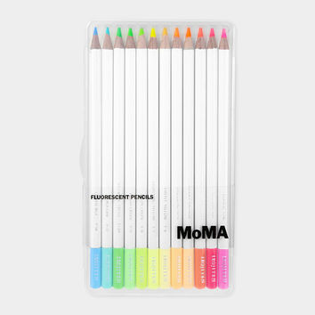 Fluorescent Colored Pencil Set