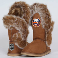 Cuce Shoes New York Islanders Ladies The Fanatic Boots - Tan - http://www.shareasale.com/m-pr.cfm?merchantID=7124&userID=1042934&productID=537993425 / New York Islanders