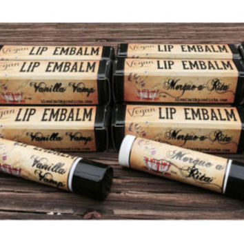 Vegan Lip Balm Bloodbath Lip Embalm CHOOSE FLAVOR Nut Oil Free