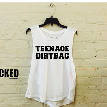 Teenage Dirtbag Ladies Muscle tank custom made Ultra soft Ladies A-Line Muscle Tank