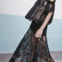 Alexis 'Gorgon Black Lace Long Skirt' Skirts | Shop Splash