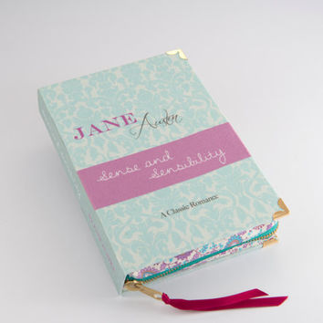 Jane Austen Sense and Sensilbility Book Clutch