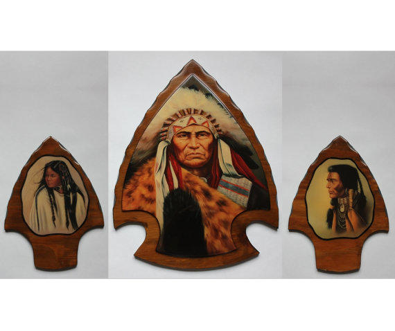 Native American Indian Arrowhead Plaque From Treasure Realm