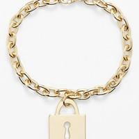 Ariella Collection Padlock Charm Bracelet | Nordstrom
