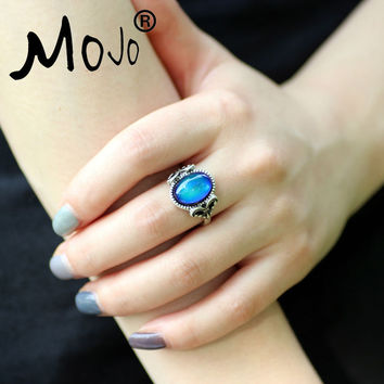 Mojo Vintage Retro Color Change Mood Ring Feeling Changeable Fashion Ring Temperature Control Ring for Women MJ-RS008