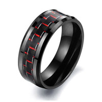 Carbon Fiber Ceramics Black Ring