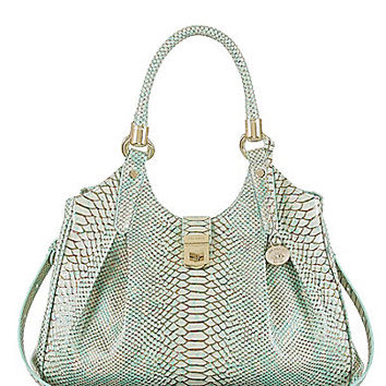 Brahmin Opal Seville Collection Elisa Snake-Embossed Hobo Bag | Dillards.com